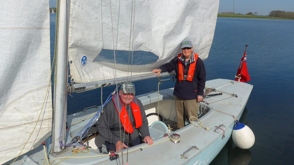 Soling Time Flies and the Boat Husband Team